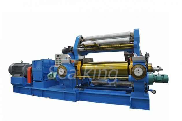 Two Roll Mixing Mill with Stock Blender